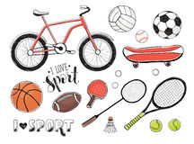 Sport equipment collection Stock Images