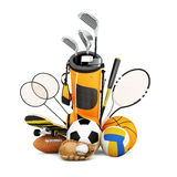 Sport equipment  collection Royalty Free Stock Images