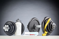 Sport Equipment - Dumbbells and Accessories Royalty Free Stock Images