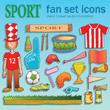 Sport equipment fan Stock Image