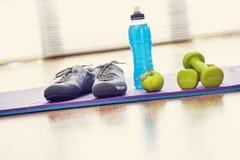 Sport equipment on fitness center. The sport equipment on fitness center Stock Images