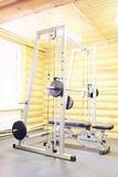 Sport equipment. Fitness club gym with sport equipment Stock Images
