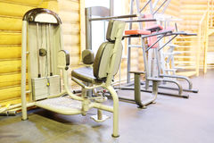 Sport equipment. Fitness club gym with sport equipment Royalty Free Stock Photo