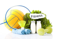 Sport equipment and fitness items Stock Image