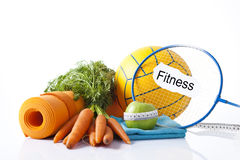 Sport equipment and fitness items Royalty Free Stock Photos