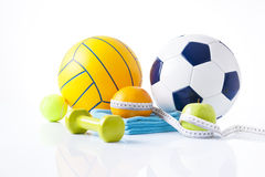 Sport equipment and fitness items Stock Photo