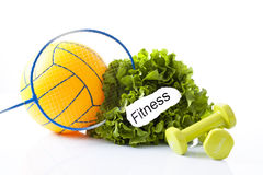 Sport equipment and fitness items Stock Images