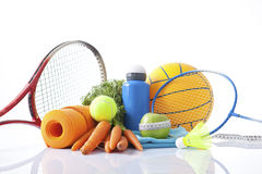 Sport equipment and fitness items Royalty Free Stock Photo