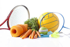 Sport equipment and fitness items Royalty Free Stock Photography