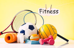 Sport equipment and fitness items Stock Photography