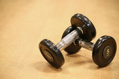 Sport equipment in fitness room or gym room, relax room for healthy people, Dumbbell in fitness and gym room.  royalty free stock photos
