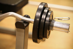 Sport equipment in fitness room or gym room, relax room for healthy people, Dumbbell in fitness and gym room.  stock photos