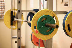 Sport equipment in fitness room or gym room, relax room for healthy people, Dumbbell in fitness and gym room Stock Images