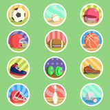 Sport Equipment Flat Icon Royalty Free Stock Photos