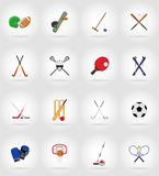 Sport equipment flat icons illustration Royalty Free Stock Image