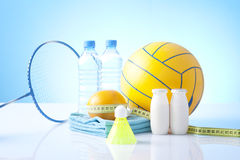 Sport equipment,healthy living Stock Image