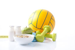 Sport equipment,healthy living Royalty Free Stock Image
