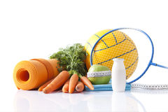Sport equipment and healthy living concept Royalty Free Stock Photography