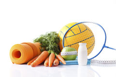 Sport equipment and healthy living concept Stock Photography