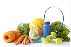 Sport equipment and healthy living concept Royalty Free Stock Images