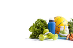 Sport equipment and healthy living concept Stock Photo
