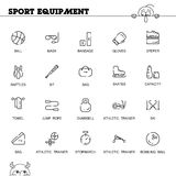 Sport equipment icon set Royalty Free Stock Photo