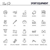 Sport equipment icon set Royalty Free Stock Image
