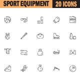 Sport equipment icon set Stock Photos