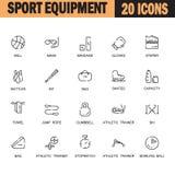 Sport equipment icon set Stock Image