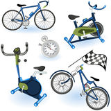Sport equipment icons 2. A collection of 6 different sport equipment elements - part 2 stock illustration