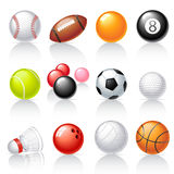 Sport equipment icons. Set of 12 sport equipment icons Royalty Free Stock Photography