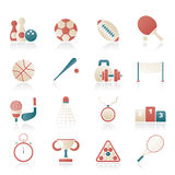 Sport equipment icons. Vector icon set Royalty Free Stock Photo