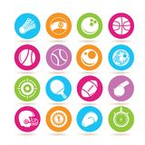 Sport equipment icons Stock Photo