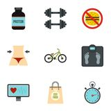 Sport equipment icons set, flat style. Sport equipment icons set. Flat illustration of 9 sport equipment vector icons for web Royalty Free Stock Image