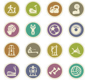 Sport equipment icons set Royalty Free Stock Photos
