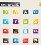 Sport equipment icons set Royalty Free Stock Image