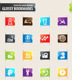 Sport equipment icons set Stock Photography