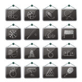 Sport equipment icons. Vector icon set Royalty Free Stock Image