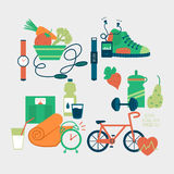 Sport equipment icons vector illustration Royalty Free Stock Photography