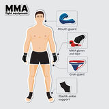Sport equipment for mixed martial arts Royalty Free Stock Photography