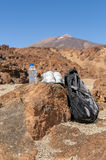 Sport equipment on mountain background. Volcan Teide Stock Image