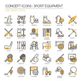Sport Equipment ,pixel perfect icon Royalty Free Stock Photos