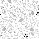 Sport Equipment seamless pattern Royalty Free Stock Photo