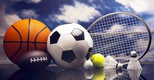 Sport Equipment, Soccer,Tennis,Basketball Stock Photos