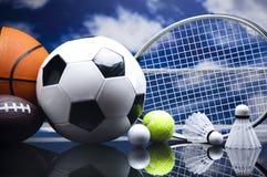 Sport Equipment, Soccer,Tennis,Basketball Royalty Free Stock Images