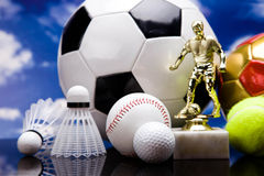 Sport Equipment on table Stock Image