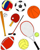 Sport equipment - vector. Sport equipment collection - vector illustration Royalty Free Stock Photos