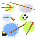 Sport equipments  background. Stock Photo