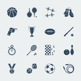 Sport equipments of flat design.Vector. Isolated for web Royalty Free Stock Photography