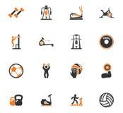 Sport equipments icons set Stock Image